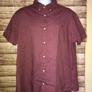 Urban Pipeline Short Sleeve Button Down Shirt 2XL